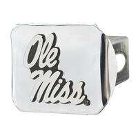 """University of Mississippi (Ole Miss) Hitch Cover - Chrome - 3.4""""x4"""""""