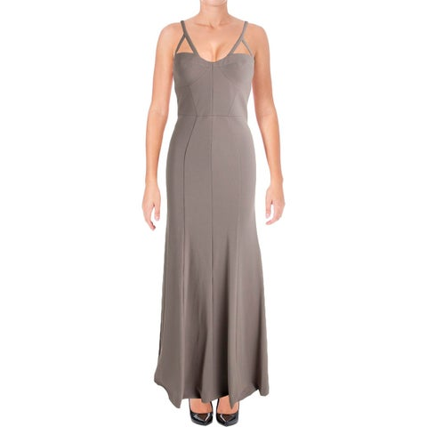 Vera Wang Womens Evening Dress Jersey Cut-Out