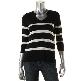 Vince Camuto Womens Pullover Sweater Striped Dolman Sleeves - XS