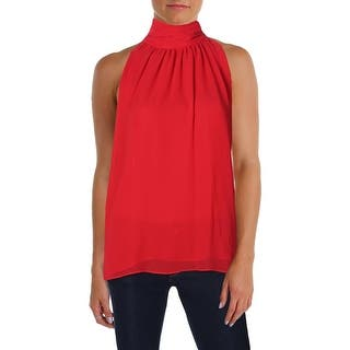 Vince Camuto Womens Halter Top Chiffon Shirred Neck|https://ak1.ostkcdn.com/images/products/is/images/direct/4bb9a0085d6be4694babf48151a4fc42e7fa827f/Vince-Camuto-Womens-Halter-Top-Chiffon-Shirred-Neck.jpg?impolicy=medium
