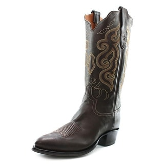 Tony Lama 1032 Men Round Toe Leather Brown Western Boot