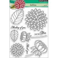 "Dahlias - Penny Black Clear Stamps 5""X6.5"" Sheet"