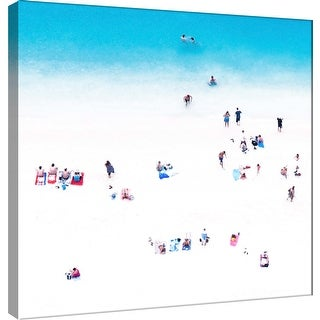 """PTM Images 9-101130  PTM Canvas Collection 12"""" x 12"""" - """"Whitewashed Beach A"""" Giclee Beaches Art Print on Canvas"""