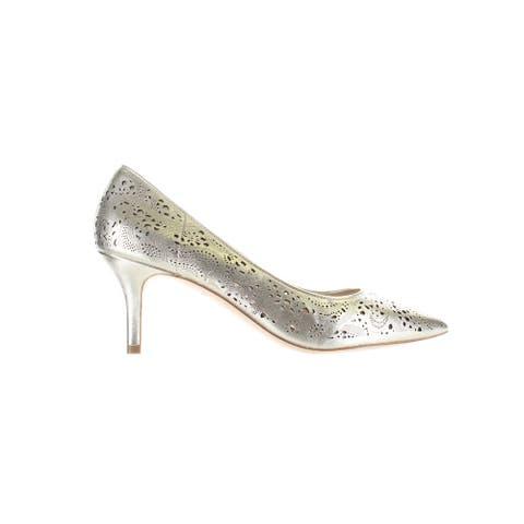 Cole Haan Womens Vesta Gold Pumps Size 9.5