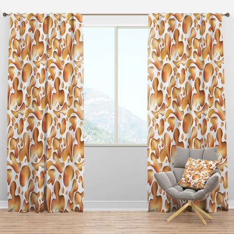 Designart 'Liquid Gold I' Mid-Century Modern Blackout Curtain Panel
