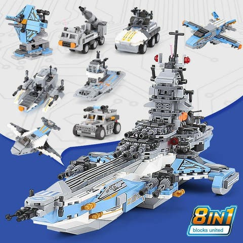 "XINGBAO 13001 Space Battleship 8 in 1 Building Block with Original Box - 7'6"" x 9'6"""