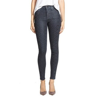 Citizens of Humanity NEW Blue Womens 24 High-Rise Coated Skinny Jeans