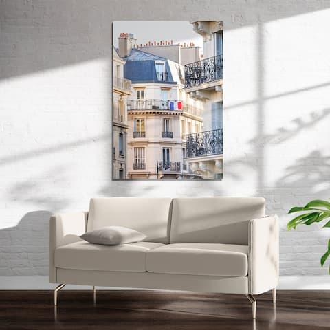 FRENCH BALCONY FLAG Art on Acrylic By Kavka Designs