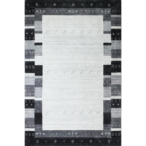 Bashian Zane Contemporary Hand Loomed Area Rug