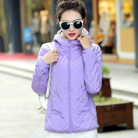 New Lambskin Coat Korean Student Hooded Down Jacket