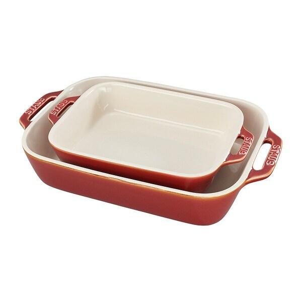 Staub Ceramic 2-pc Rectangular Baking Dish Set