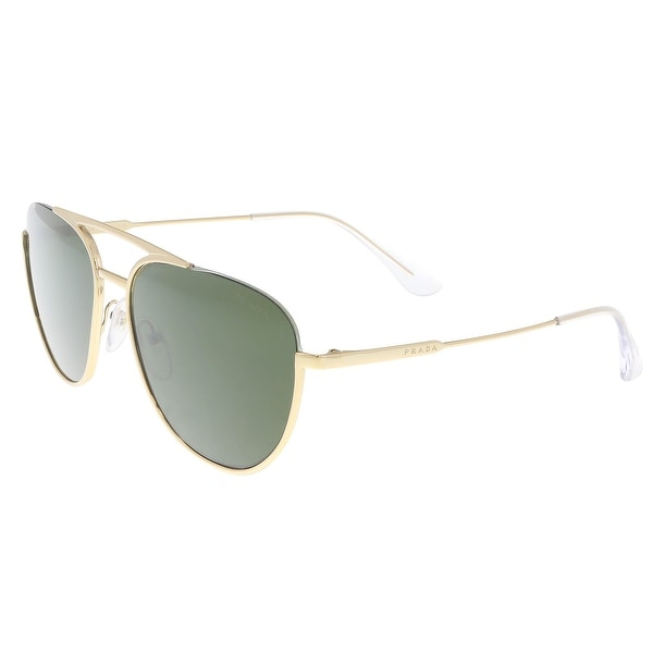 79fb3d67cc Shop Prada PR 50US 5AK1I0 Gold Aviator Sunglasses - 56-17-140 ...