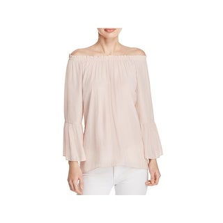Ramy Brook Womens Charity Blouse Shirred Off-The-Shoulder