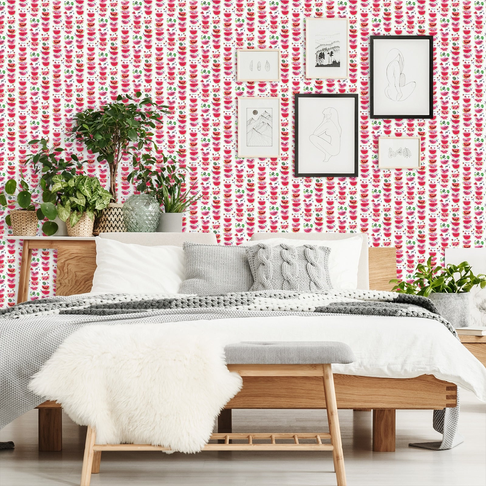 18 L X 24 W Peel Stick Wallpaper Roll In Black And White Pots By Rebecca Prinn 18 X 24 Overstock 32844479