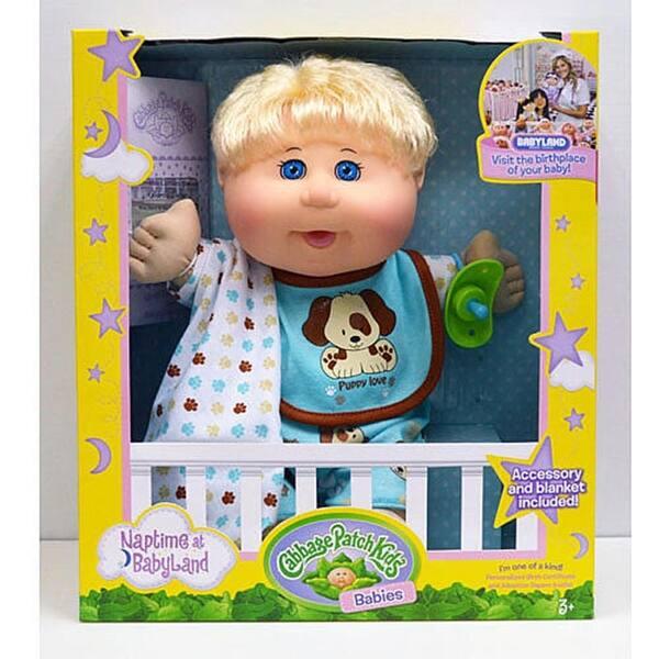 Cabbage Patch Kids Naptime Babies 12 5 Doll Blonde Boy Dog Jumper Multi Overstock 30659639