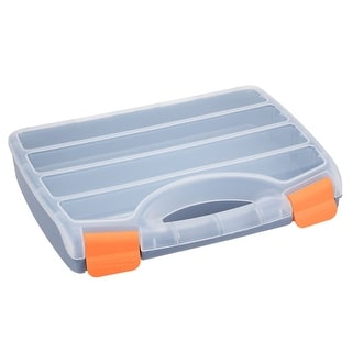 12-inch Tool Box with Tray and Organizers Includes 4 Small Parts Boxes