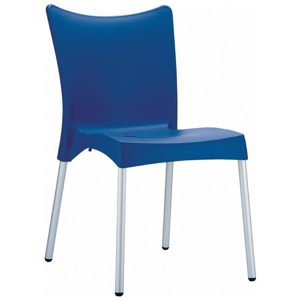 Juliette Resin Dining Chair - Set of 2 (Dark Blue) - Blue