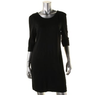 Pippa Womens Stretch Elbow Sleeves Little Black Dress - 8