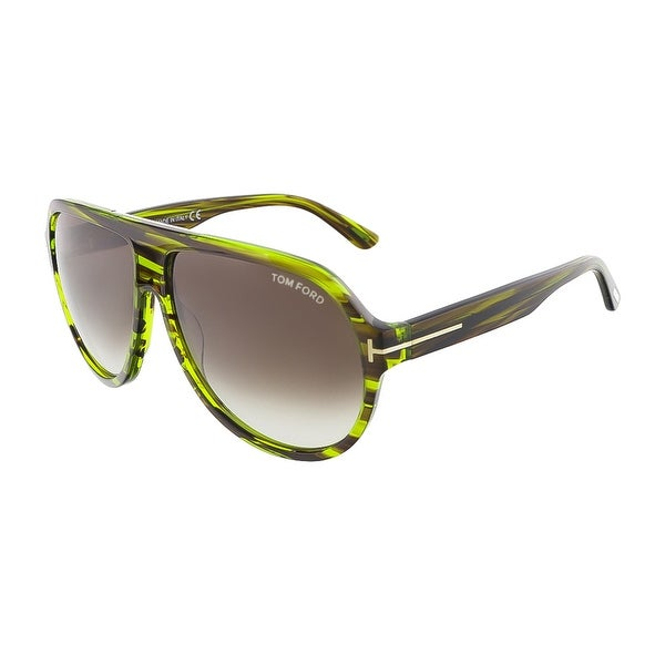 e8eb39eb58dcd Tom Ford FT0464 S 98K TRUMAN Shiny Green Havana Aviator sunglasses - shiny  green havana