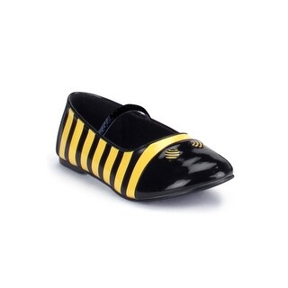 Pleaser Sweet Honey Bee Child Ballet Flat Shoes - black/yellow