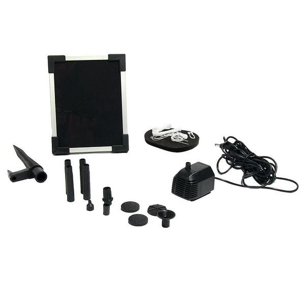 Sunnydaze Solar Pump & Solar Panel Kit with 5 Spray Heads 47 GPH 20 Inch Head