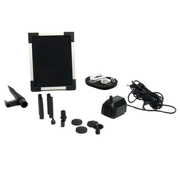 Sunnydaze Solar Pump and Solar Panel Fountain Kit with 5 Spray Heads - 47 GPH