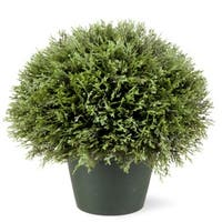 "15"" Potted Artificial Juniper Bush - Green"