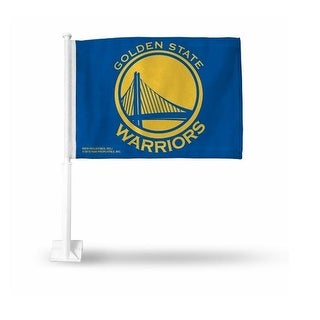 RicoIndustries FG96003 Golden State Warriors Blue Car Flag