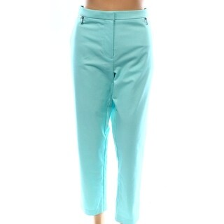 Calvin Klein NEW Solid Sea Blue Women's Size 4 Zip-Ankle Dress Pants