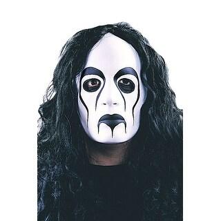 Fun World Rock Star Mask With Wig - WHITE/BLACK