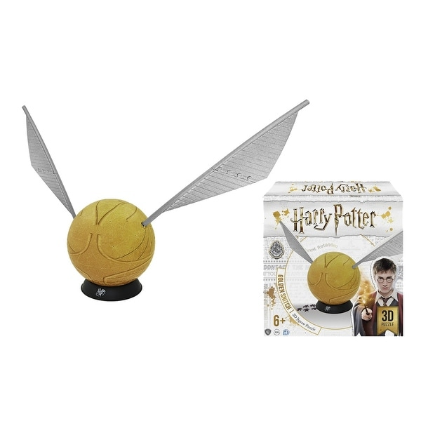 4d Cityscape Harry Potter Golden Snitch 3d Puzzle With Display Stand 242 Pieces Multi 6 In X 6 In X 30 In