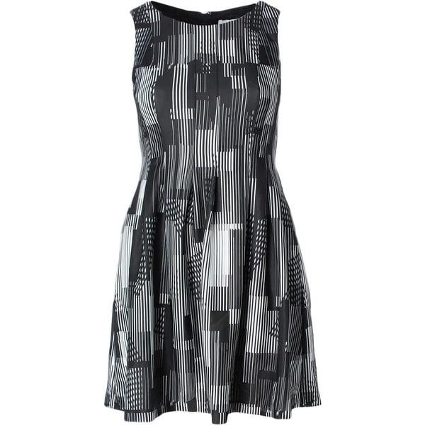 039c0b8b Shop Calvin Klein Womens Wear to Work Dress Printed Pleated - Free ...