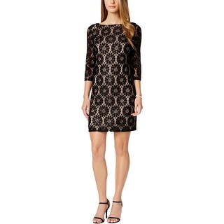 Jessica Howard Womens Petites Wear to Work Dress Lace 3/4 Sleeves