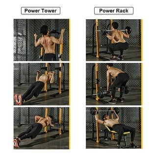 Link to Zenova Power Tower Workout Dip Station for Home Gym Strength Training Fitness Equipment Similar Items in Fitness & Exercise Equipment