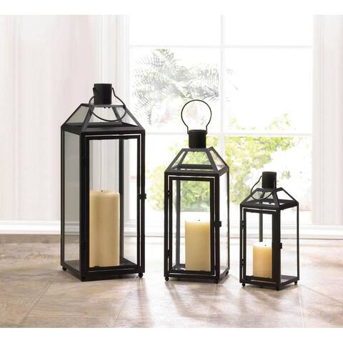 Stylish Small, Medium and Large Black Lantern