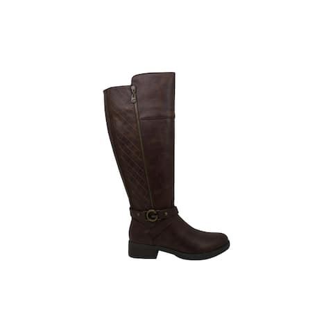 G by Guess Womens Reada Leather Round Toe Knee High Boots Fashion Boots