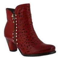 L'Artiste by Spring Step Women's Emese Bootie Red Leather