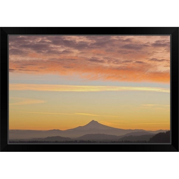 """Portland, Oregon, United States Of America"" Black Framed Print"