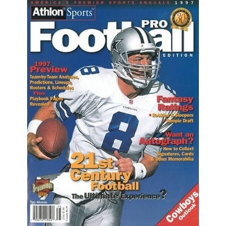 hot sale online 194a3 13275 Troy Aikman unsigned Dallas Cowboys Athlon Sports 1997 NFL Pro Football  Preview Magazine