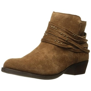 Kensie Womens Gilberto Ankle Boots Suede Belted