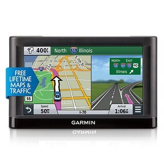 Garmin Nuvi 65LMT GPS Vehicle Navigation System w/ Free Lifetime Map & Traffic Updates