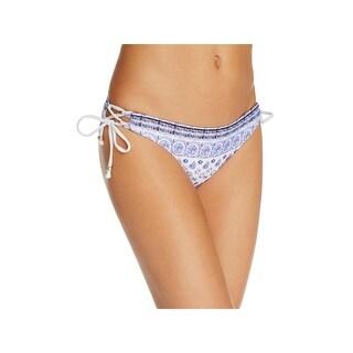 Shoshanna Womens Printed Side Tie Swim Bottom Separates