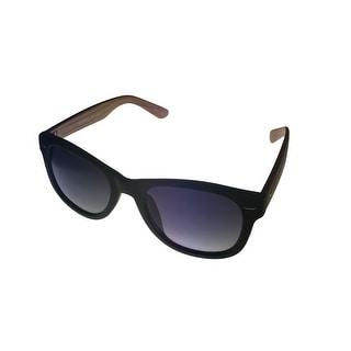 Esprit Mens Sunglass Matte Black/ Brown Grain Square Plastic ET19419 538 - Medium