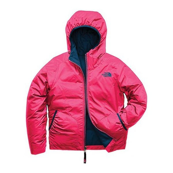 67e3027cd The North Face Girls' Reverisble Perrito Jacket Atomic Pink