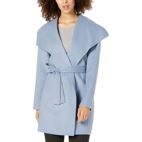 Tahari Womens Ella Wrap Coat Winter Wool