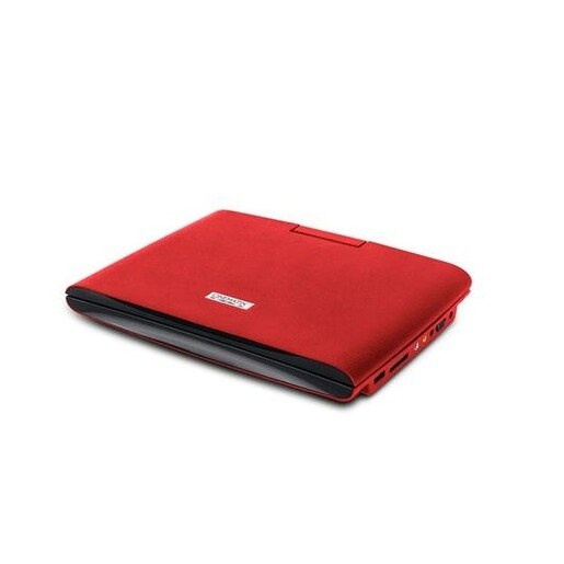"Pc Treasures 70665-Pg Cinematix 9"" Portable Dvd Player, 6+ Hour Battery Life Red"
