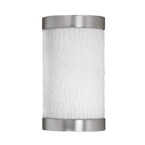 Fusion 1-light Satin Nickel Outdoor Light