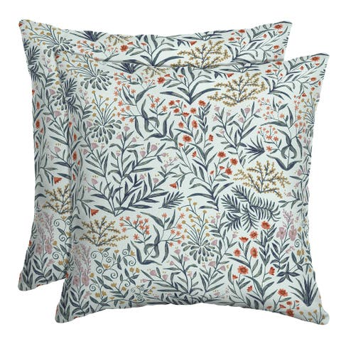 Arden Selections Pistachio Botanical Outdoor Throw Pillow, 2 pack - 16 in L x 16 in W x 5 in H