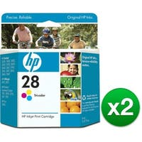 HP 28 Tri-color Original Ink Cartridge (C8728AN) (2-Pack)