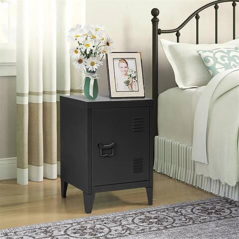 Porch & Den Maudsley Metal Storage Cabinet Nightstand